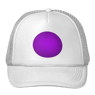 Purple Golf Ball Trucker Hat