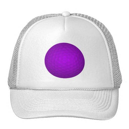 Purple Golf Ball Mesh Hat