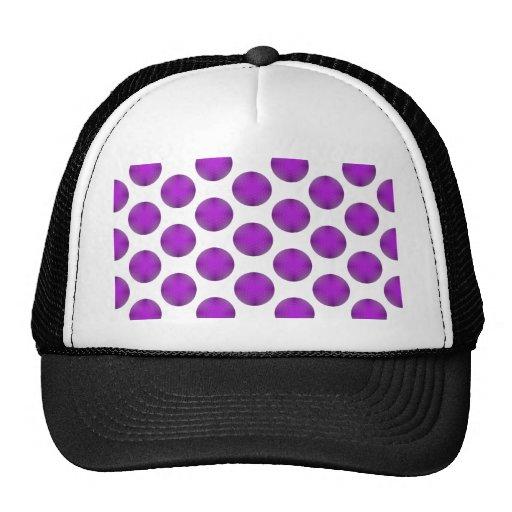 Purple Golf Ball Polka Dot Pattern Hats