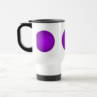 Purple Golf Ball Stainless Steel Travel Mug