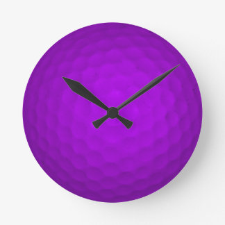 Purple Golf Ball Wallclock