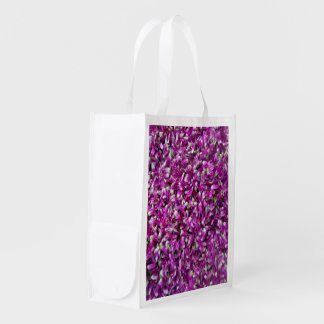 Purple Gomphrena Reusable Grocery Bags