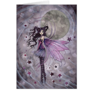 Purple Gothic Fairy Fantasy Art  Faery Card