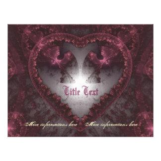 Purple Gothic Heart 001 21.5 Cm X 28 Cm Flyer