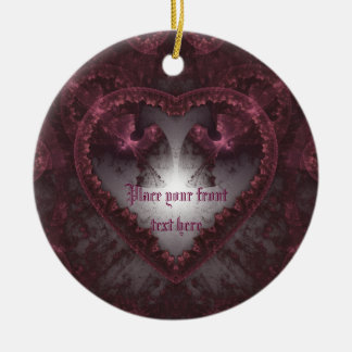 Purple Gothic Heart 001 Christmas Ornament