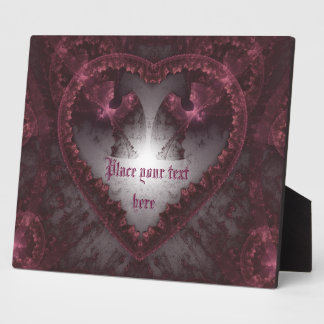 Purple Gothic Heart 001 Display Plaque