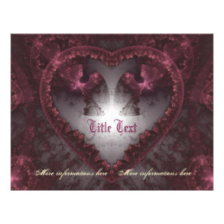 Purple Gothic Heart 001 Full Color Flyer