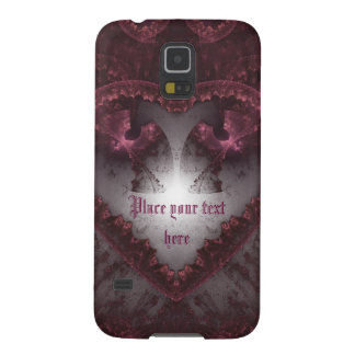 Purple Gothic Heart 001 Galaxy S5 Cover