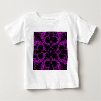Purple Gothic Heart Fractal Baby T-Shirt