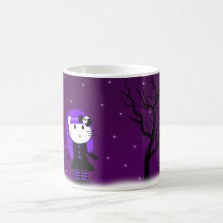 Purple Gothic Kitty Mug
