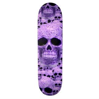 Purple gothic skull pattern 21.3 cm mini skateboard deck