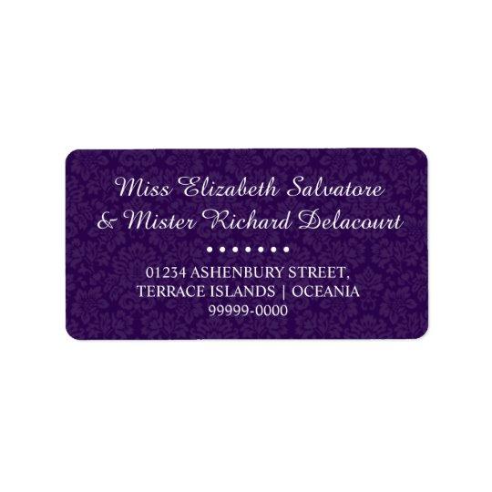 Purple Gothic Victorian Wedding Address Labels