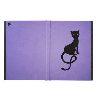 Purple Gracious Evil Black Cat Folio Cover For iPad Air