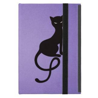 Purple Gracious Evil Black Cat Folio Cover For iPad Mini