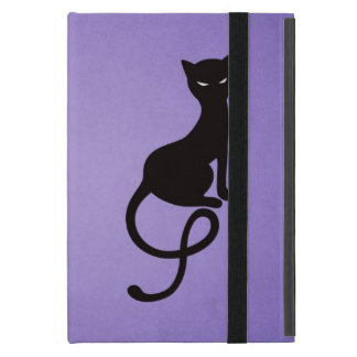 Purple Gracious Evil Black Cat Folio iPad Mini Case