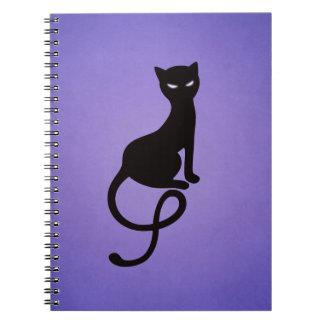 Purple Gracious Evil Black Cat Notebook