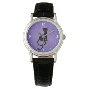 Purple Gracious Evil Black Cat Watch