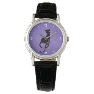 Purple Gracious Evil Black Cat Watches
