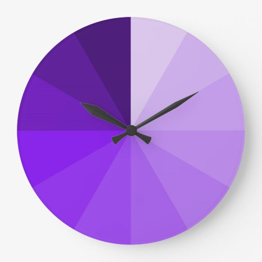 purple gradient ombre modern and artsy wall clock