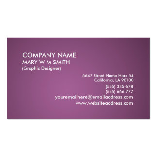 Purple Gradient Personalized Business Card