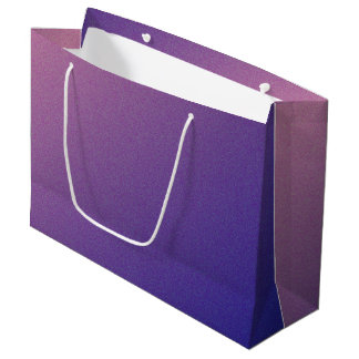 Purple Gradient Shimmer Large Gift Bag