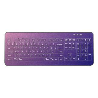 Purple Gradient Shimmer Wireless Keyboard
