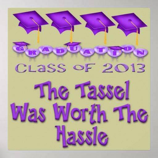 Purple Graduation Caps Poster/Print