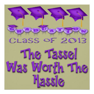 Purple Graduation Caps Poster/Print Poster