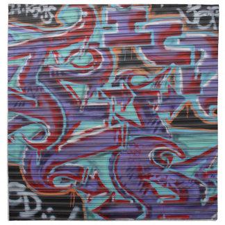 Purple Graffiti on Shutter Napkin