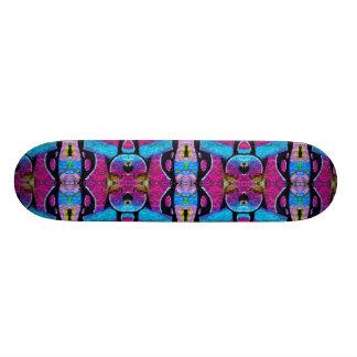 Purple graffiti skateboard. skateboard