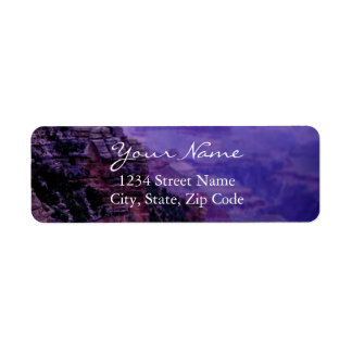 Purple Grand Canyon Address Labels