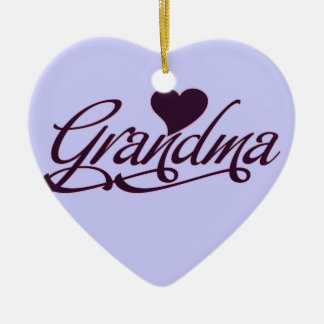 Purple Grandma Christmas Ornament