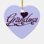 Purple Grandma Christmas Tree Ornament