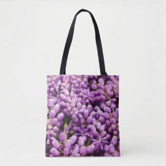 Purple Grape Hyacinth Spring Flower Tote Bag