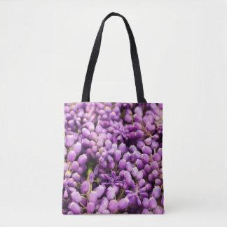 Purple Grape Hyacinth Spring Flower Tote Bag