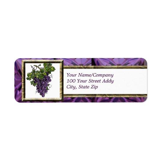 Purple Grape Return Address Label