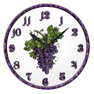 Purple Grape Wallclocks