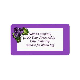 Purple Grapes Address Label