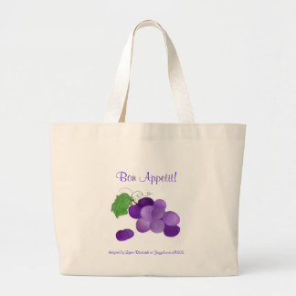 Purple Grapes Bon Appetit Bag