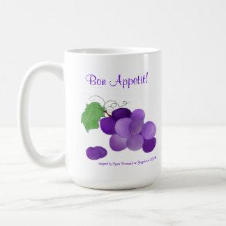 Purple Grapes Bon Appetite Mug