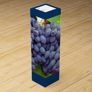 Purple Grapes Custom Wine Box