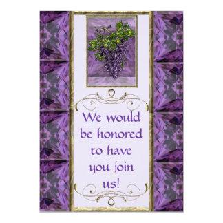 Purple Grapes Invitation