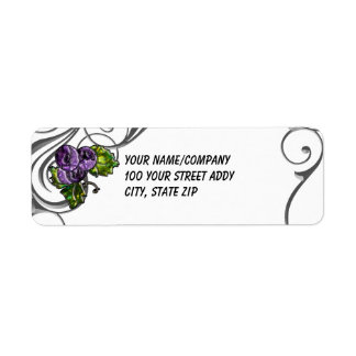 Purple Grapes Return Address Label