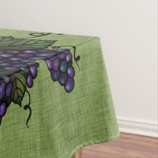 """Purple Grapes, Lovely Cotton Tablecloth, 52""""x70"""" Tablecloth"""