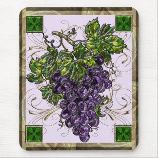 Purple Grapes Mouse Pads