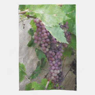 Purple Grapes on the Vine Tea Towel