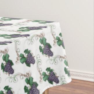 Purple grapes pattern kitchen tablecloth