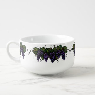 Purple Grapes, Soup Mug, Cereal Bowl, Gift Soup Mug