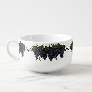 Purple Grapes, Soup Mug, Cereal Bowl, Gift Soup Mug