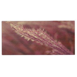 Purple Grass Wood USB 2.0 Flash Drive